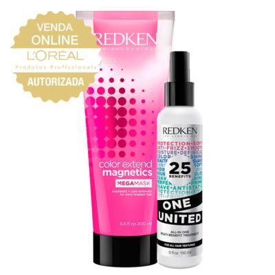 Redken One United + Color Ext Mega Mask Kit - Leave-In + Máscara de Hidratação - Kit