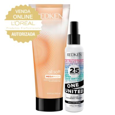 Redken All Soft Mega Mask Kit - Leave-In + Máscara de Hidratação - Kit