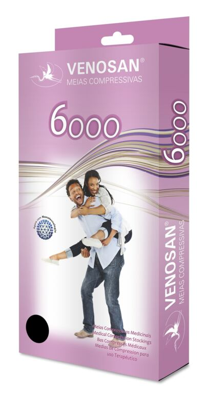 Imagem 1 do produto Meia Panturrilha AD 20-30 mmHg 6000 Venosan - PONTEIRA FECHADA BEGE P