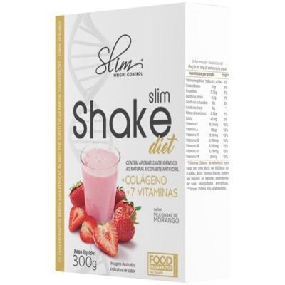 Imagem 3 do produto SLIM SHAKE DIET 300GR - SLIM - MORANGO -