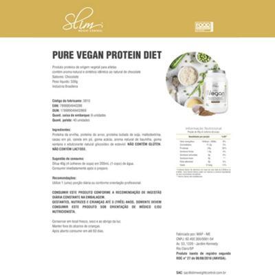 Imagem 2 do produto PROTEIN PURE VEGAN 500GR - SLIM - CHOCOLATE -