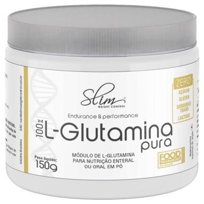 Imagem 1 do produto 100% L-GLUTAMINA PURA 150G SLIM - BAUNILHA -