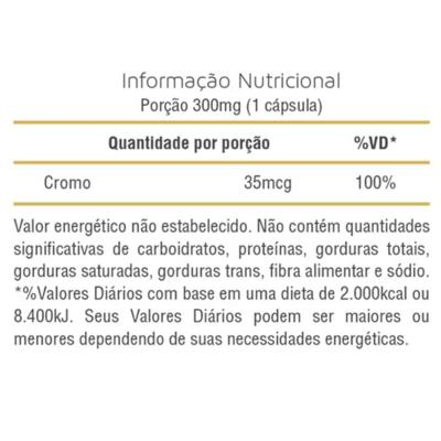 Imagem 3 do produto PICOLINATO DE CROMO 100CAPS - SLIM -