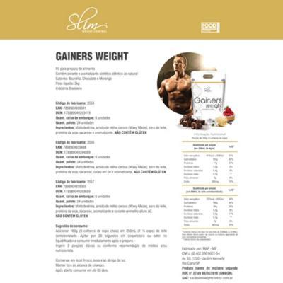Imagem 1 do produto Gainers Weight Refil 3k - Slim - Chocolate Grátis uma Coqueteleira. -