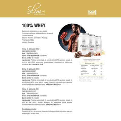 Imagem 1 do produto Whey 100% 900g - Slim - Morango Grátis Uma Coqueteleira. -