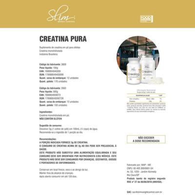Imagem 2 do produto Kit Slim Whey Baunilha 900g + 01 BCAA 60 Cáps + 01 Creatina pura 100g -