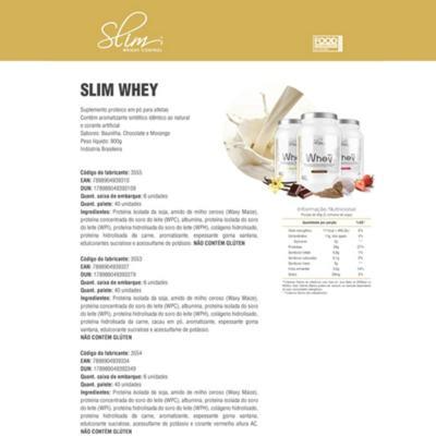 Imagem 4 do produto Kit Slim Whey Morango 900g + 01 Testo-man 60 Cáps + 01 Glutamin 250g - Slim -