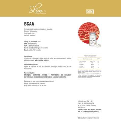 Imagem 2 do produto Combo Slim BCAA 60 caps 03 unidades - Slim -