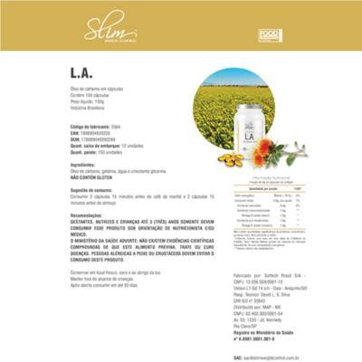 Imagem 4 do produto Kit Slim L-carnitina 480ml + Picolinato De Cromo 100caps + óleo De Cartamo 100caps + Coqueteleira - Slim -