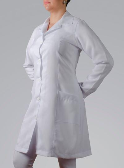 Imagem 3 do produto JALECO FEMININO MANGA LONGA OXFORD - P