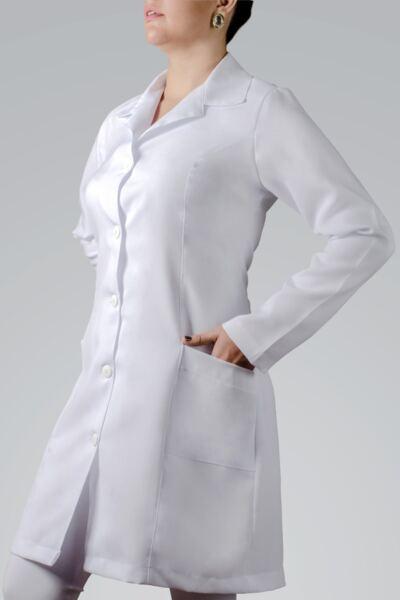 Imagem 1 do produto JALECO FEMININO MANGA LONGA OXFORD - M