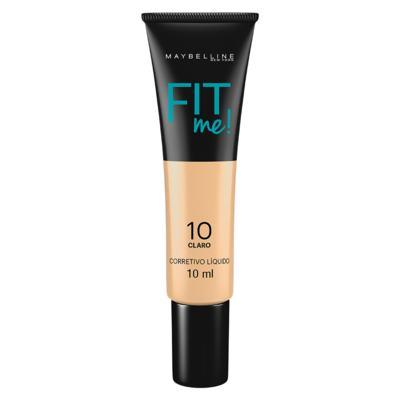 Fit Me! Maybelline - Corretivo Líquido para peles Claras - 10 - Claro