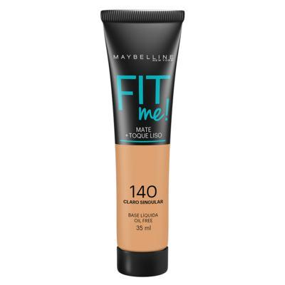 Fit Me! Maybelline - Base Líquida para Peles Claras - 140 - Claro Singular