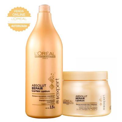 L'Oréal Professionnel Absolut Repair Pós Química Kit - Shampoo 1,5L + Máscara 500g - Kit