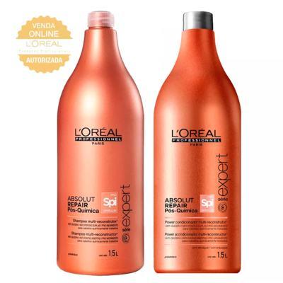 Imagem 1 do produto L'Oréal Professionnel Absolut Repair Pós-Química Kit - Shampoo 1,5L + Condicionador 1,5L - Kit