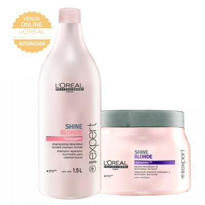 L'Oréal Professionnel Shine Blonde Kit - Shampoo 1,5L + Máscara 500g - Kit