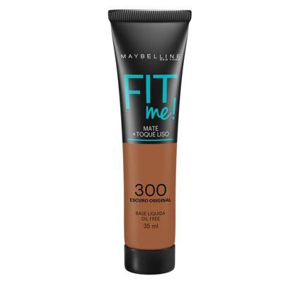 Fit Me! Maybelline - Base Líquida para Peles Escuras - 300 - Escuro Original