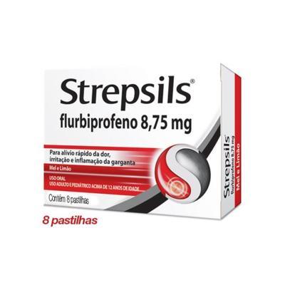 Strepsils Sabor Mel e Limão 8 pastilhas