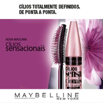 Imagem 4 do produto Máscara para Cílios Maybelline Cílios Sensacionais Lavável - Preto