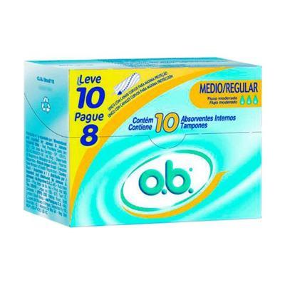 Imagem 1 do produto Absorvente Interno OB Medio/Regular c/ 10