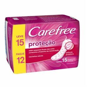Absorvente Carefree Protetor Diario Com Perfume - Sem Abas | 15 unidades | Leve 15 Pague 12