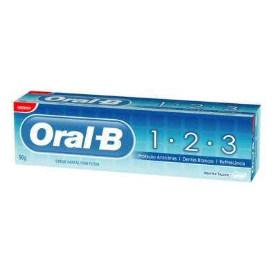 Creme Dental Oral-B 123 Menta Suave 70g