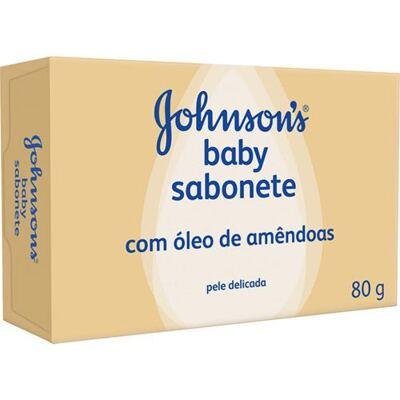 Sabonete Em Barra Johnsons Baby Amendoa 80g