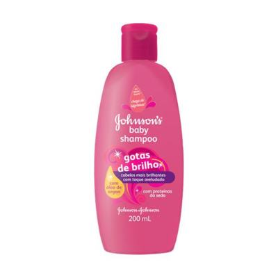 Shampoo Johnson Baby Gotas de Brilho 200ml