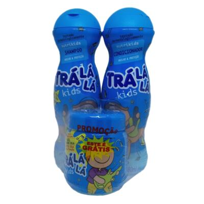 Kit Trá Lá Lá Kids Shampoo + Condicionador + Grátis Gel Cola Nutrikids