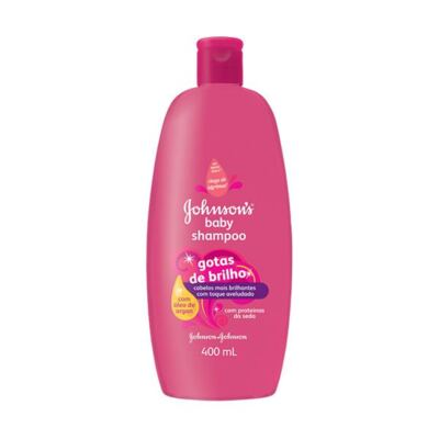 Shampoo Johnson Baby Gotas de Brilho 400ml