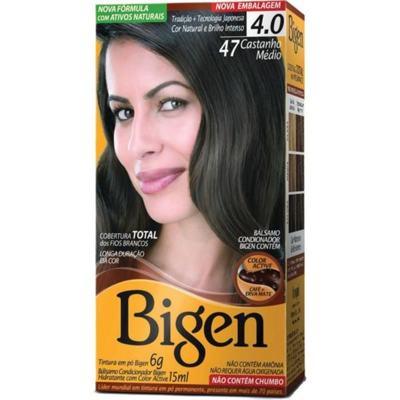 Imagem 1 do produto Tintura Permanente Bigen 4.7 Castanho Médio