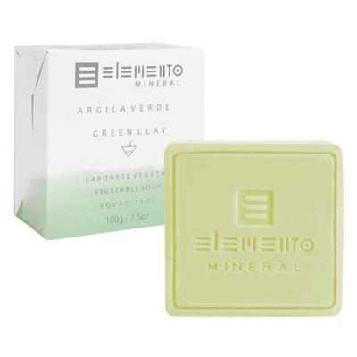 Sabonete Vegetal Elemento Mineral - Argila Verde - 100g