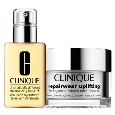 Clinique Gel Hidratante + Firmador Facial Kit - Dramatically Different Moisturizing Gel + Repairwear Uplifting Firming Cream - Kit