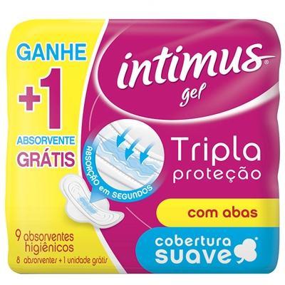 Imagem 1 do produto Absorvente Intimus Tripla Proteção Com Abas Seca Leve 9 Pague 8