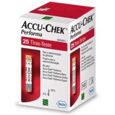 Tiras Para Teste De Glicemia Accu-chek Performa C/ 25