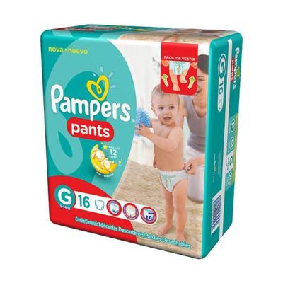 Fralda Pampers Pants - G | 16 unidades