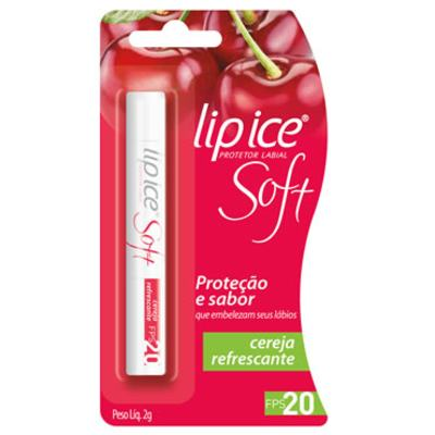 Lip Ice Protetor Labial Soft FPS20 Cereja Refrescante 2g