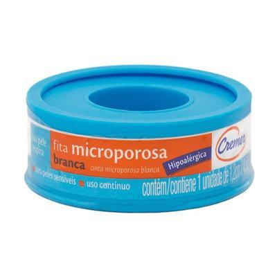 Fita Microporosa Cremer Branca Hipoalérgica 1,2cm x 4,5m