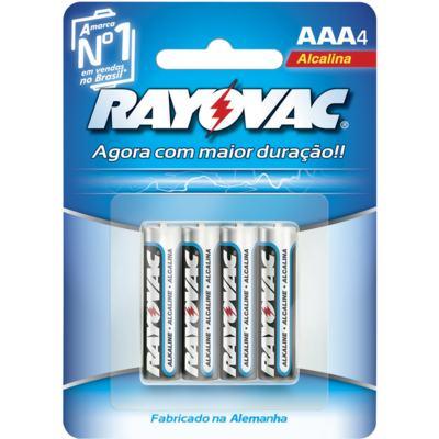 Pilhas Palito Rayovac LR03 Alcalina AAA4 4 Unidades