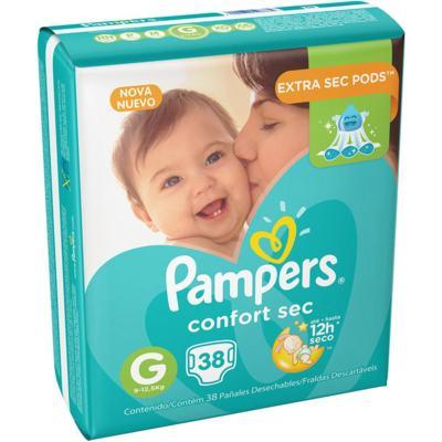 Imagem 1 do produto Fralda Pampers Confort Sec Mega G 38 unidades