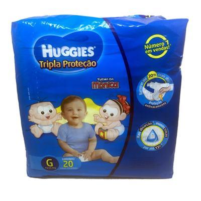 Imagem 1 do produto Fralda Huggies Turma da Mônica Tripla Proteção Jumbinho G 20un