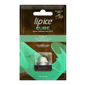 Lip Ice Protetor e Hidratante Labial - FPS15 Chocolate com Menta   6,5g