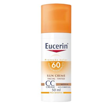 Imagem 1 do produto CC Cream Sun Creme Tinted FPS60 Eucerin - Protetor Solar - Média