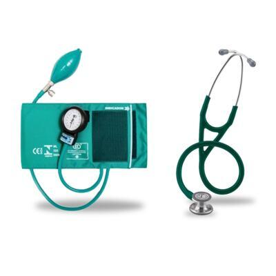 Imagem 5 do produto Kit Esteto Littmann Cardiology IV Verde com Aparelho de Pressão Bic Verde