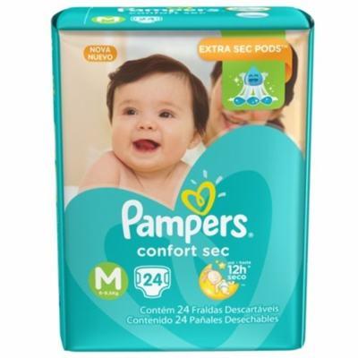 Imagem 2 do produto Fralda Pampers Confort Sec M 24 unidades -