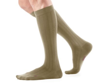 Meia Panturrilha 20-30 mmHg Mediven For Men Medi - KHAKI III MEDI