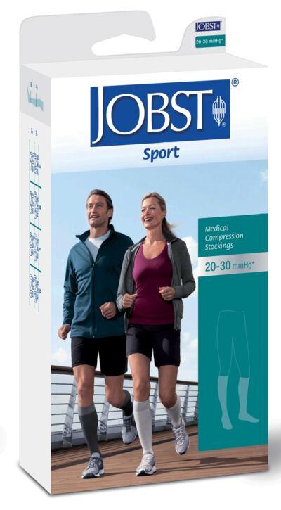 Imagem 1 do produto Meia Panturrilha 20-30 mmHg Sport Jobst - BRANCO PONTEIRA FECHADA M