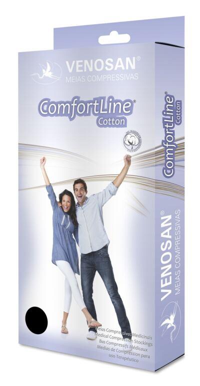 Imagem 2 do produto Meia Panturrilha AD 30-40 Comfortline Cotton Venosan - CURTA PONTEIRA ABERTA BEGE XXG
