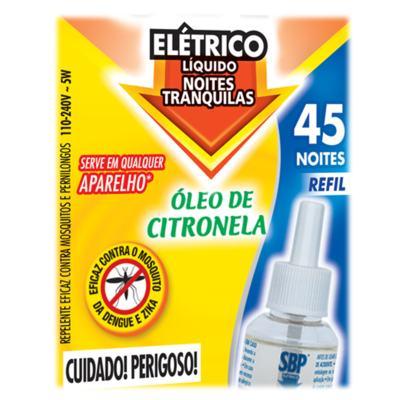 Imagem 2 do produto Repelente SBP - Líquido 45 Noites Refil Citronela - 35ml