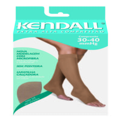 Meia Calça Extra Alta Compressão 30-40 mmHg Kendall - MEL PONTEIRA ABERTA G